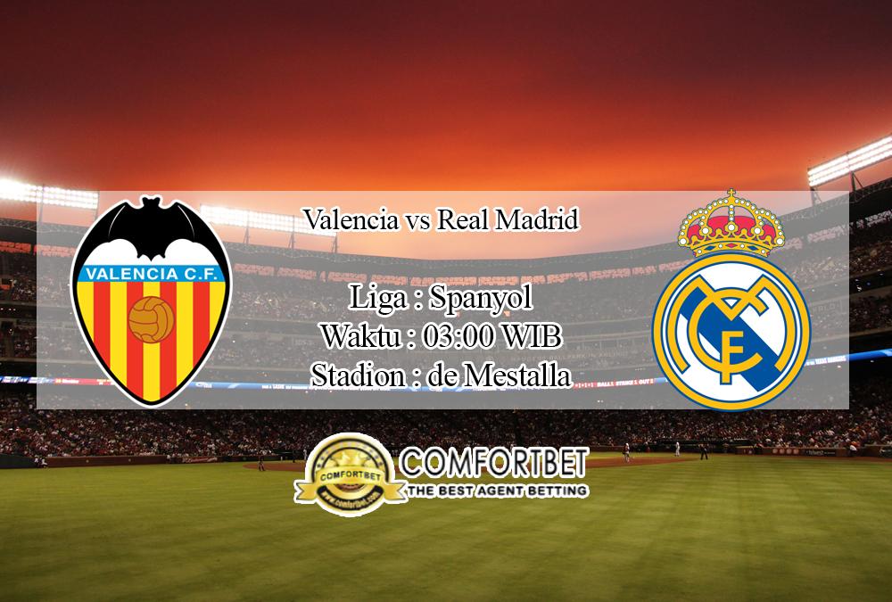 Prediksi Skor Valencia Vs Real Madrid 16 November 2019