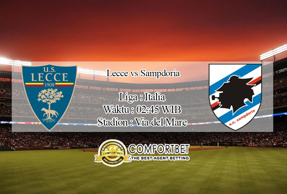 Prediksi Bola Lecce vs Sampdoria 2 Juli 2020