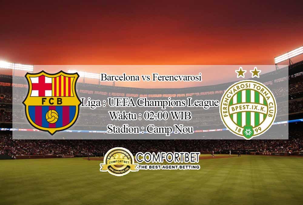 Prediksi Skor Barcelona vs Ferencvarosi 21 Oktober 2020