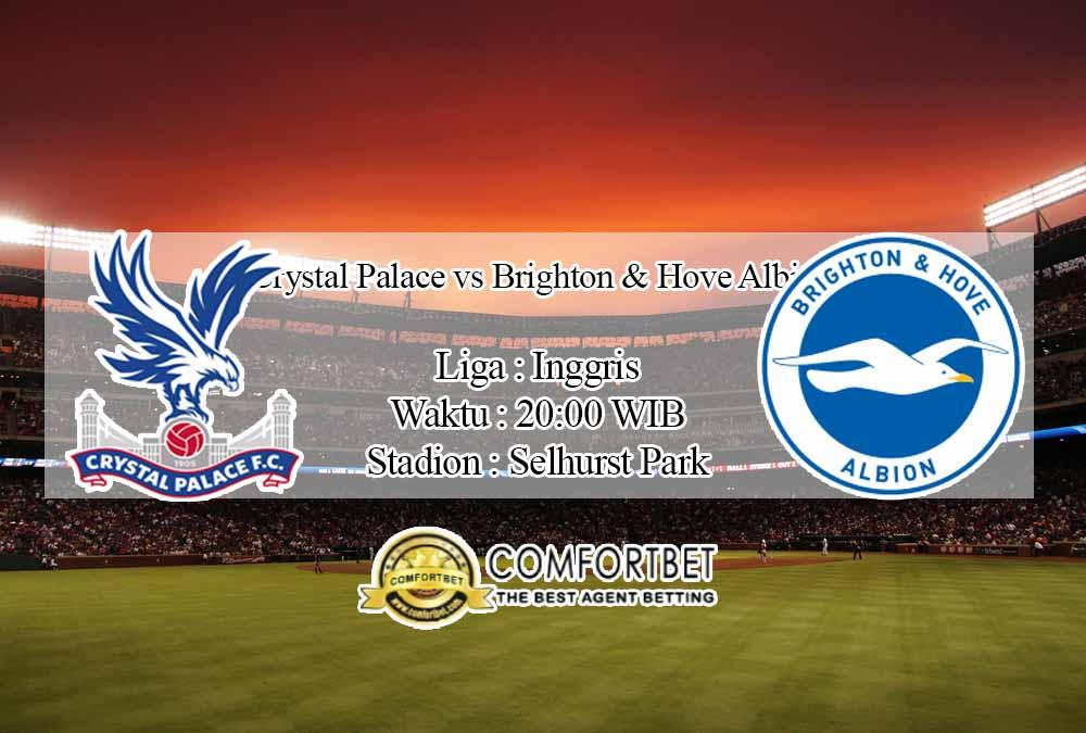 Prediksi Skor Crystal Palace vs Brighton & Hove Albion 18 Oktober 2020