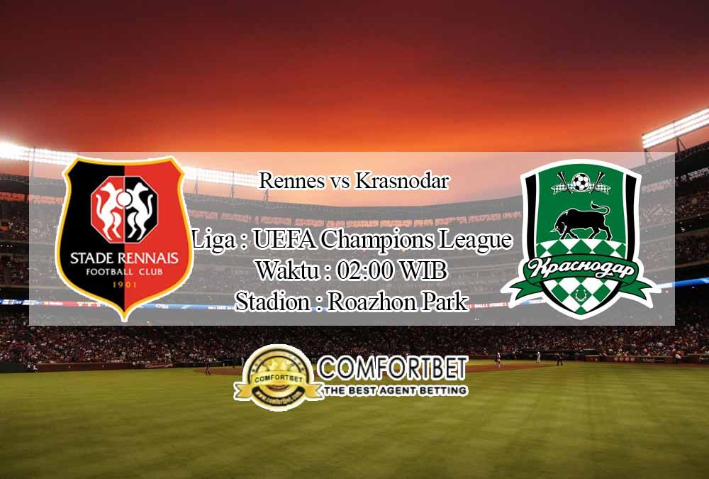 Prediksi Skor Rennes vs Krasnodar 21 Oktober 2020