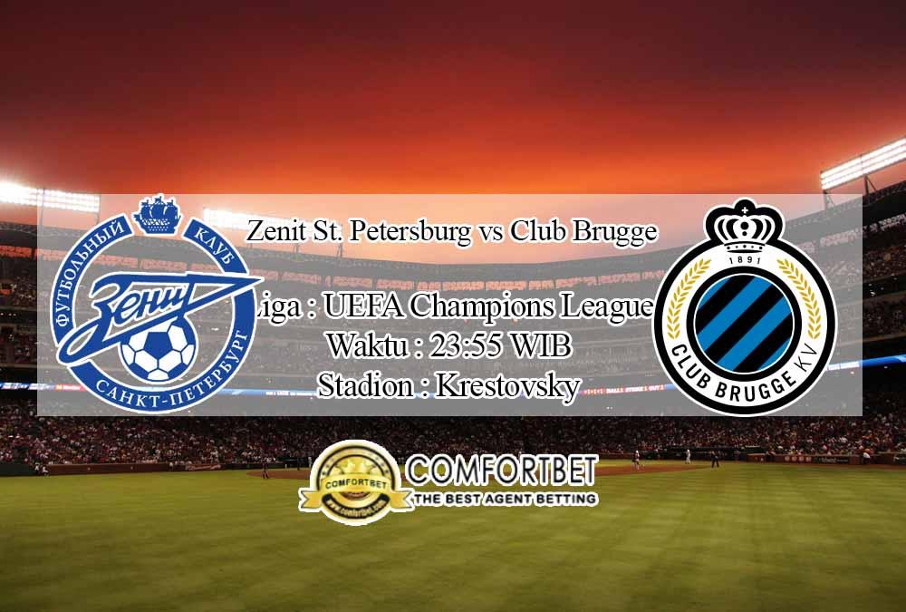 Prediksi Skor Zenit St Petersburg vs Club Brugge 20 Oktober 2020