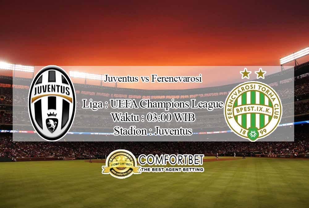 Prediksi Skor Juventus vs Ferencvarosi 25 November 2020