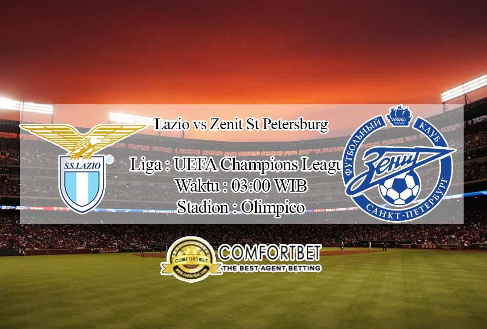 Prediksi Skor Lazio vs Zenit St Petersburg 25 November 2020