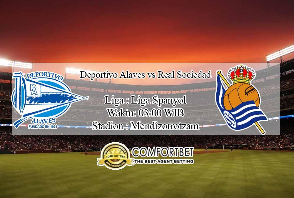 Prediksi Skor Deportivo Alaves vs Real Sociedad 7 Desember 2020