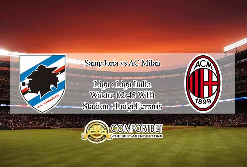 Prediksi Skor Sampdoria vs AC Milan 7 Desember 2020